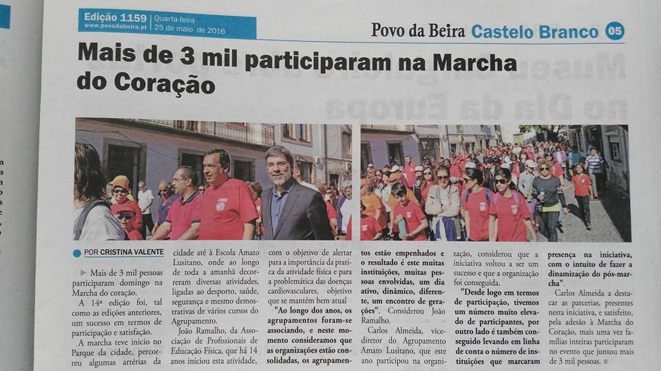 Jornal Povo da Beira XIV Marçha pelo Coração (1)